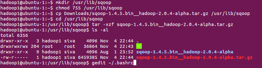 Sqoop Installation on Ubuntu
